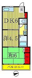 中山第一ビル[B302号室]の間取り