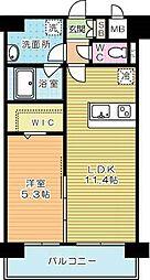 ネクステージ三萩野[2階]の間取り