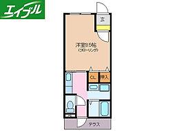 近鉄鳥羽線 宇治山田駅 徒歩15分の賃貸アパート 1階1Kの間取り
