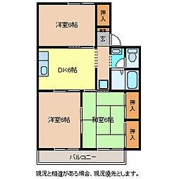 セジュール吉田A棟[2階]の間取り
