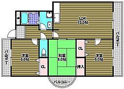メゾンアザレア[5階]の間取り