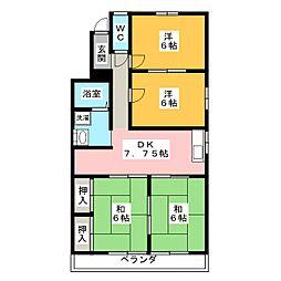 スクエアファーストOKAZAKI[3階]の間取り