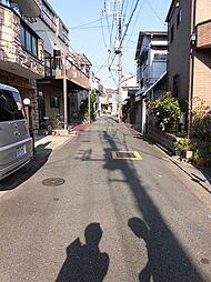 静かな前面道路