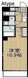東京メトロ南北線 本駒込駅 徒歩8分の賃貸マンション 2階1Kの間取り