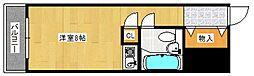オーハシビル[608号室号室]の間取り