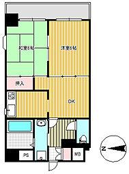 上杉八番館[7階]の間取り