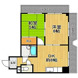 シティハイツ姫島[303号室]の間取り