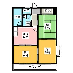 ニューマンション日比野[3階]の間取り