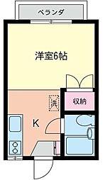 神奈川県相模原市南区相武台3丁目の賃貸アパートの間取り