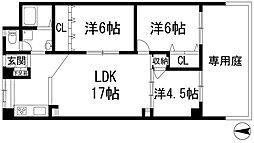 ローレルハイツ宝塚1号棟[1階]の間取り