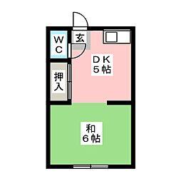 ひかり荘[2階]の間取り
