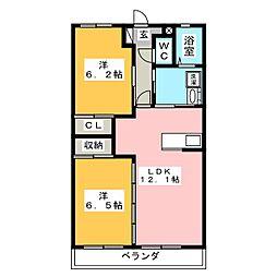 メインコート・イワタ[1階]の間取り