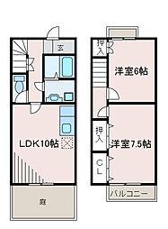 [テラスハウス] 東京都町田市金森東1丁目 の賃貸【/】の間取り