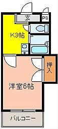 ウインライフ山本[2階]の間取り
