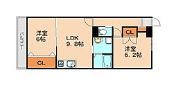 仮)志免中央新築マンション 1階2LDKの間取り