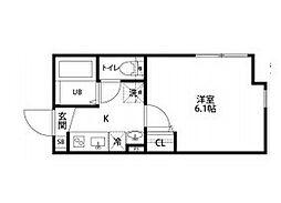 京成本線 千住大橋駅 徒歩2分の賃貸マンション 3階1Kの間取り