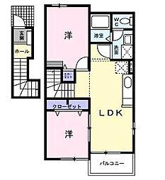 ラブリー壱番館[2階]の間取り