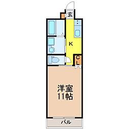 愛知県名古屋市千種区青柳町6丁目の賃貸マンションの間取り