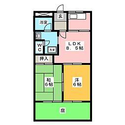 セーラズB[1階]の間取り