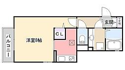 千葉県習志野市谷津2丁目の賃貸アパートの間取り