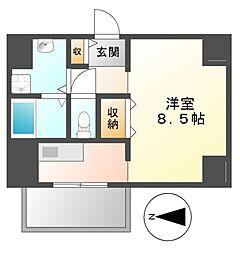 クラシタイヤー新栄[7階]の間取り