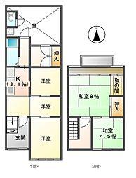[一戸建] 愛知県名古屋市瑞穂区薩摩町1丁目 の賃貸【/】の間取り