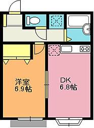 埼玉県上尾市大字小泉の賃貸アパートの間取り