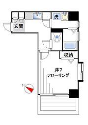 ヒルズ北新宿[403号室]の間取り