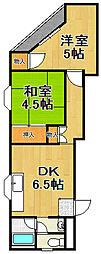ファーストマンション[4階]の間取り