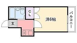 レオパレス武庫川第2[103号室]の間取り