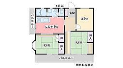 江守コーポ[202号室]の間取り