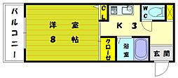レントハウス和白ビル[5階]の間取り