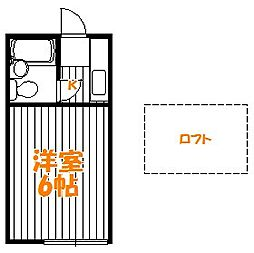 東京都葛飾区四つ木5丁目の賃貸アパートの間取り