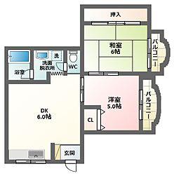 ショウエイハイツ7[2階]の間取り