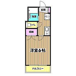パピエ大和田[1階]の間取り