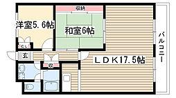 メゾン太田[401号室]の間取り