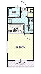 JR山形新幹線 山形駅 バス15分 大学病院口下車 徒歩2分の賃貸アパート 1階1Kの間取り
