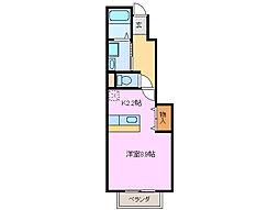 サンフィットII[1階]の間取り