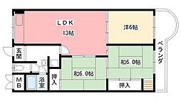東朋第一マンション[201号室]の間取り