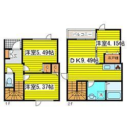 [テラスハウス] 北海道札幌市東区北二十六条東21丁目 の賃貸【/】の間取り