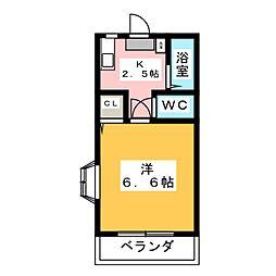 コーポSUGIYAMA[2階]の間取り