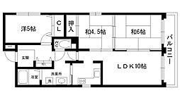パークハウス西宮[3階]の間取り