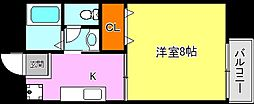 Y・クレモアII[1階]の間取り