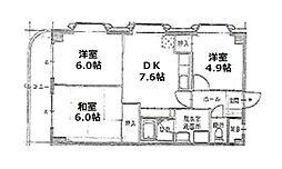 スペーシア江古田[4階]の間取り