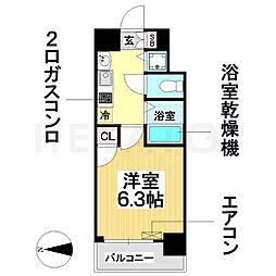 愛知県名古屋市瑞穂区瑞穂通4丁目の賃貸マンションの間取り