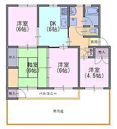 竹の台団地C3棟106号[1階]の間取り