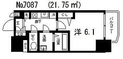 アクアプレイス天王寺II[6階]の間取り