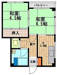 兵庫県神戸市長田区山下町4丁目の賃貸マンションの間取り