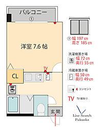 フローラ博多[4階]の間取り