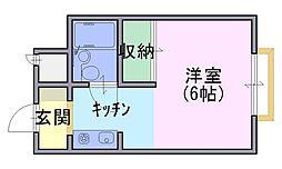 プチバサン[3階]の間取り